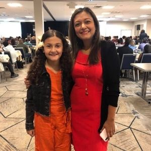 Michelle Bosch, co-founder of the Land Profit Generator Land Flipping Course with daughter Sophia Bosch at the LPG Live Launch